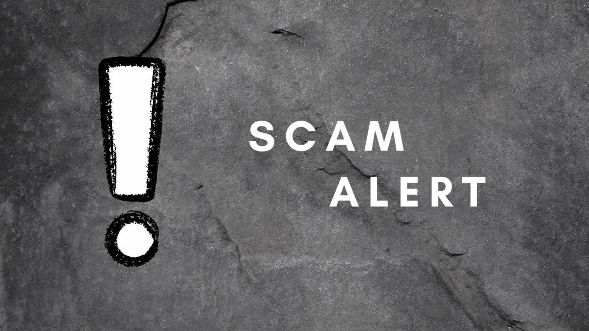 """image of text: """"scam alert"""""""