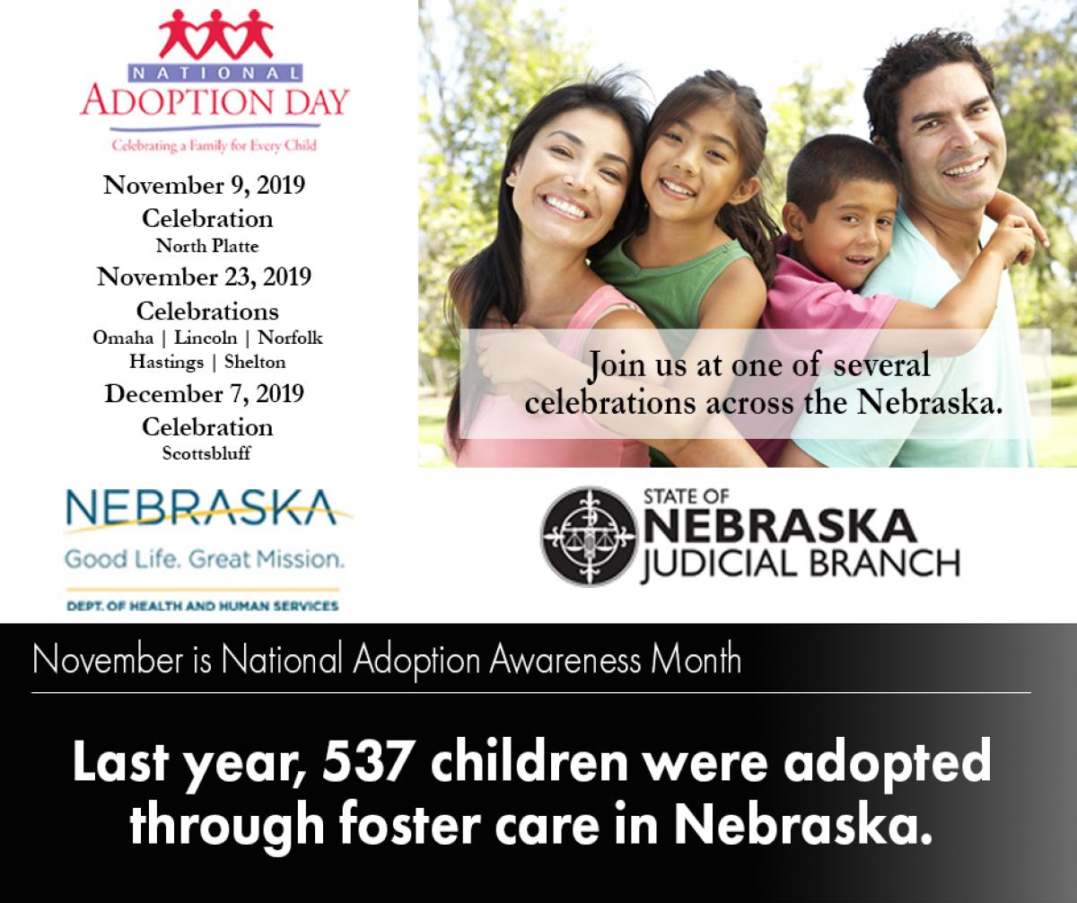 Nebraska S National Adoption Day Nebraska Judicial Branch