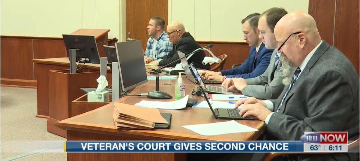 Veterans court team