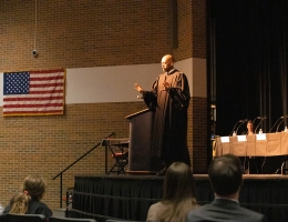 Judge presenting
