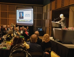 Chief Justice accepts award