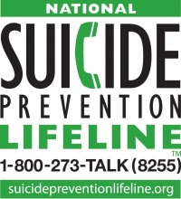 National Suicide Prevention Lifeline 1-800-273-TALK (8255) suicidepreventionlifeline.org