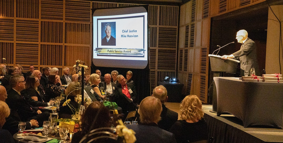 Chief Justice accepts award