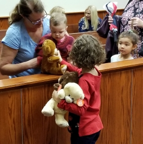 Adoption Day Sharing Teddy Bears